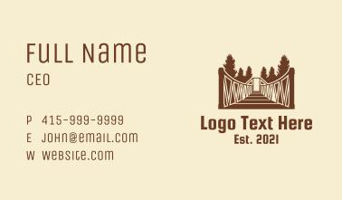 Forest Hanging Bridge Business Card
