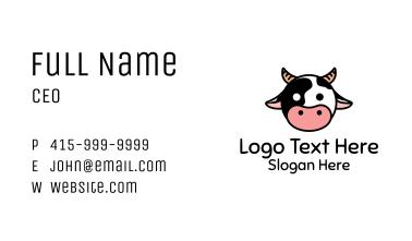 Cute Cow Head Business Card