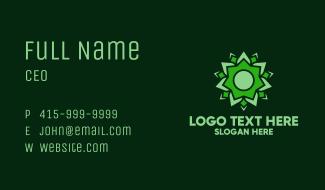 Organic Green Flower Business Card