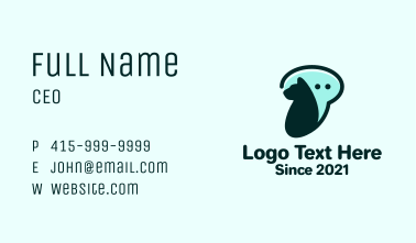 Dog Chat Bubble Business Card
