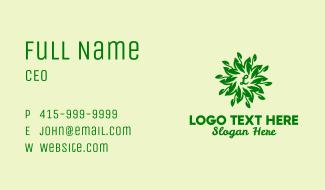 Leaf Wreath Lettermark Business Card