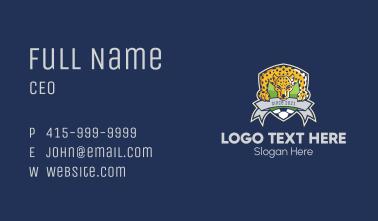 Jaguar Soccer Team Business Card