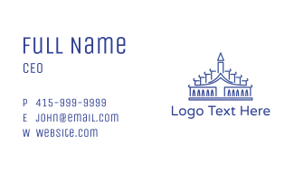 Blue Palace Outline Business Card