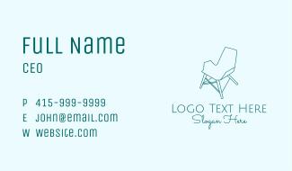 Blue Furniture Chair  Business Card