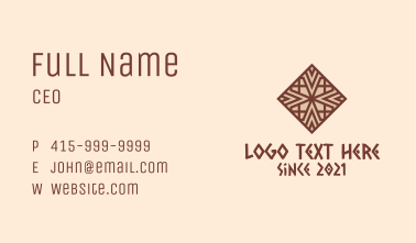 Intricate Ethnic Pattern Business Card