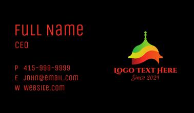 Multicolor Muslim Temple  Business Card
