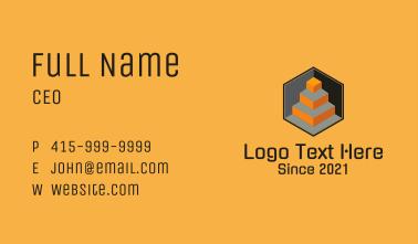 3D Geometric Cube  Business Card
