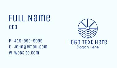 Ocean Wave Sun Business Card
