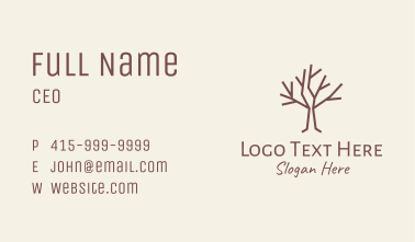Brown Forest Tree  Business Card