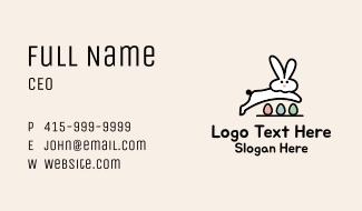 Egg Easter Bunny Business Card