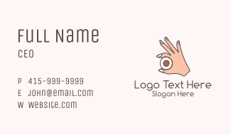Sushi Hand Business Card