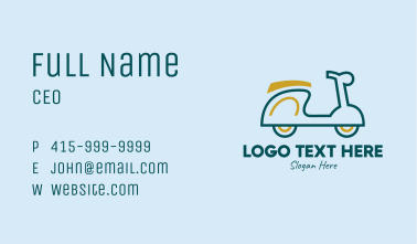 Motor Scooter Vehicle  Business Card