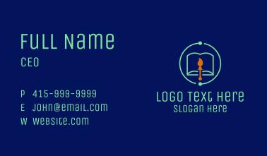 Cyber Art Literature Business Card