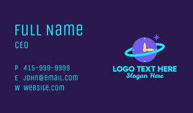 Planet Orbit Clock  Business Card