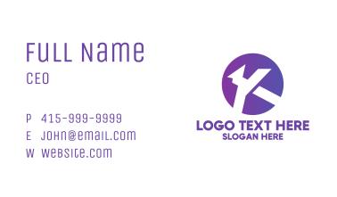 Gradient Purple Letter K  Business Card