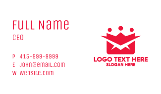 Red Mail Crown Business Card