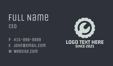 Wrench Cogwheel Engineering  Business Card