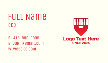Red Piano Location Pin Business Card