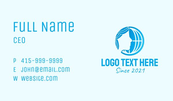 maiden - International Women Organization Business card horizontal design
