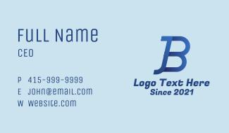 Blue J & B Monogram Business Card