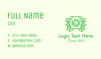 Green Nature Camera Business Card