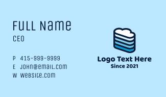 Data Cloud  Server Business Card