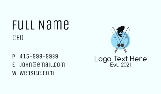 Fishing Sport Emblem  Business Card