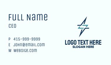Lightning Power Monoline Business Card