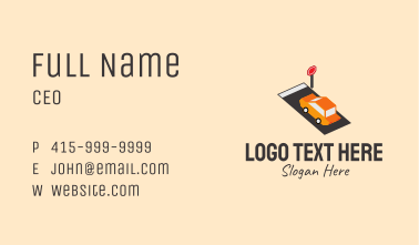 Isometric Automobile Transport Business Card