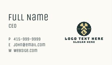 Blacksmith Hammer Letter Badge Business Card
