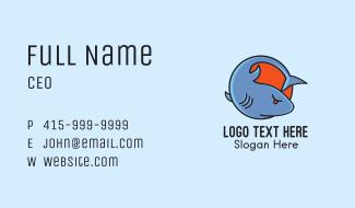 Angry Shark Cartoon Business Card