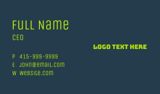 Neon Green Wordmark Business Card