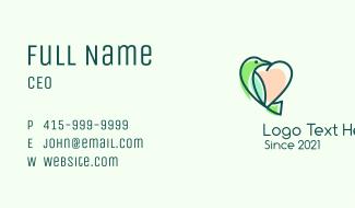 Love Bird Heart Business Card