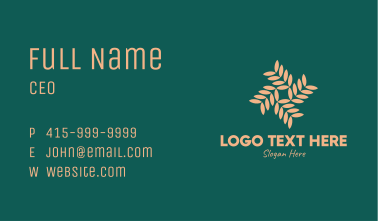 Brown Vegetation Pattern Business Card