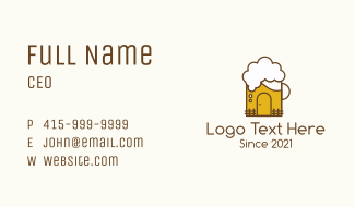 Beer Mug House  Business Card