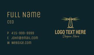 Coastal Lighthouse Tower  Business Card