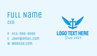 Anchor Wing Emblem Business Card