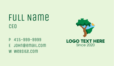 Brazilian Nature Map  Business Card