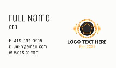 Futuristic Soccer Ball Business Card