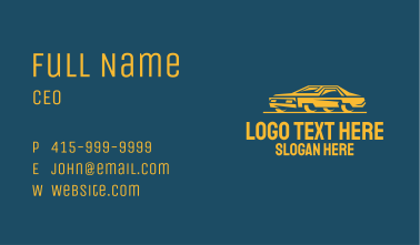 Classic Yellow Car Business Card
