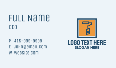 Paint Roller Tool  Business Card