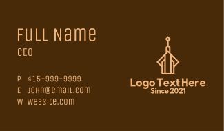 Brown Tower Building Business Card