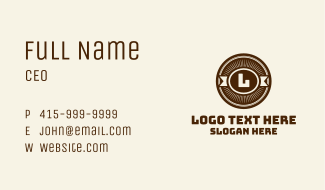 Wild West Antique Badge  Business Card