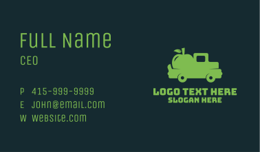 Green Fruit Delivery  Business Card
