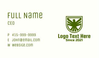 Green Eagle Crest Business Card