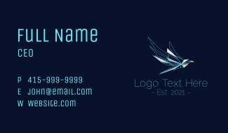 Modern Polygon Falcon Business Card