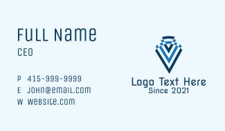 Letter V Construction Business Card