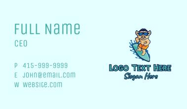 Cool Surfer Pig Business Card