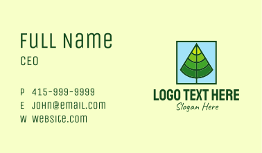 Square Forest Tree Business Card