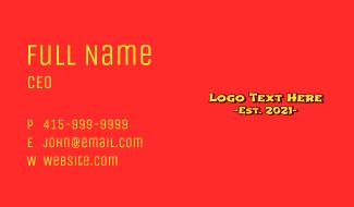 Asian Oriental Wordmark Business Card